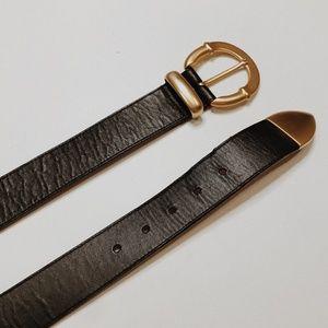 • VINTAGE • black & gold boho belt